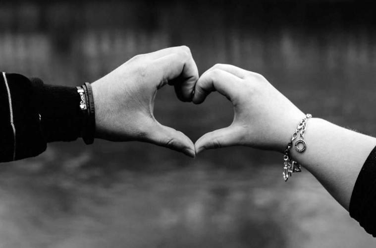 Happy couple heart