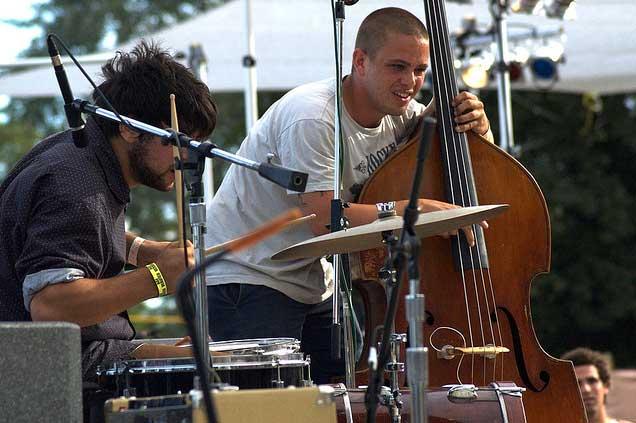 musicians enjoying themselves