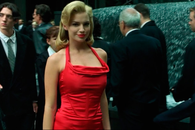 Red dress woman Matrix
