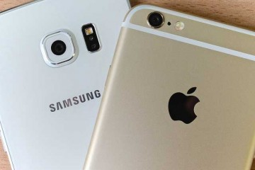 Apple iPhone iOs and Samsung Android phone