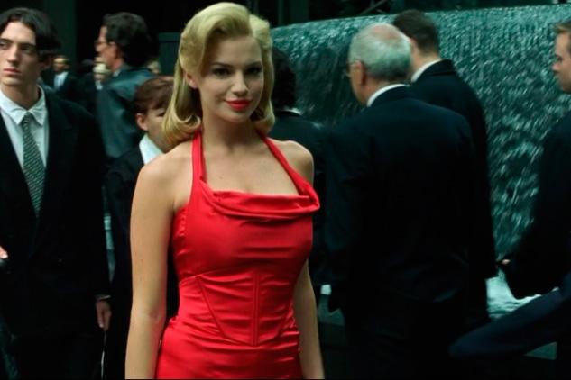 Red dress woman Matrix
