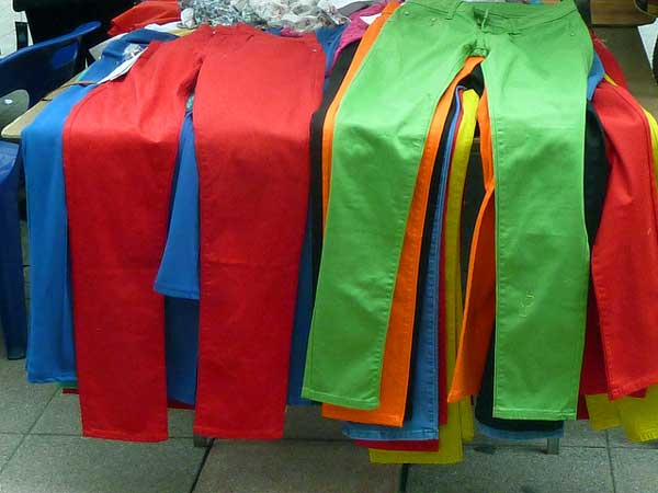 Brightly coloured trousers - enclothed cognition